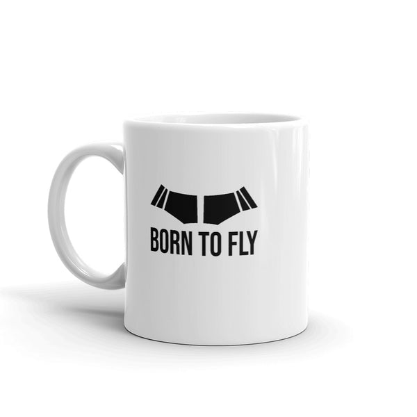 Born To Fly Tea and Coffee Mug - Double-Sided White