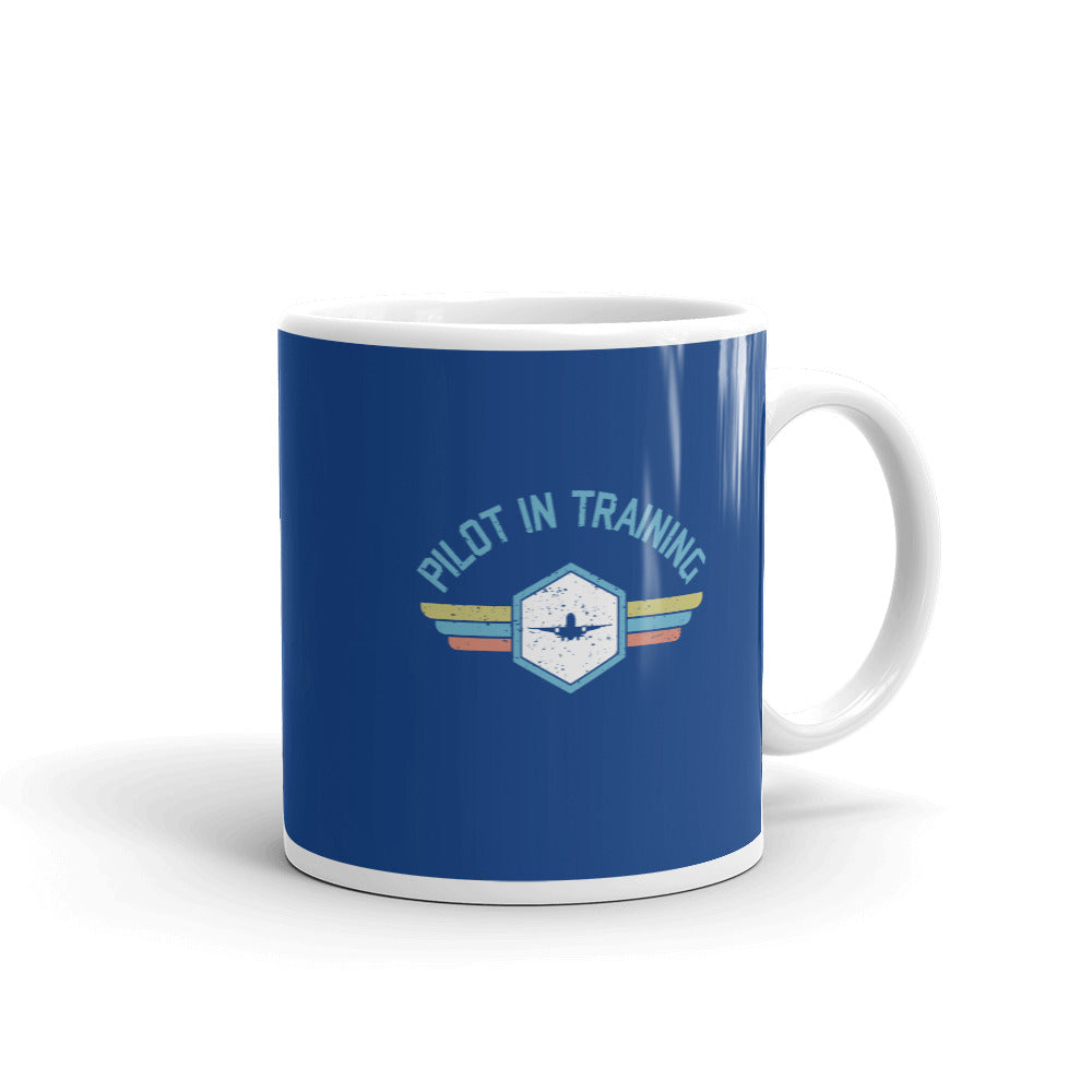 Pilot In Training Tea and Coffee Mug (blue)