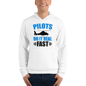 Pilots Do It Real Fast Unisex Hoodie (White)