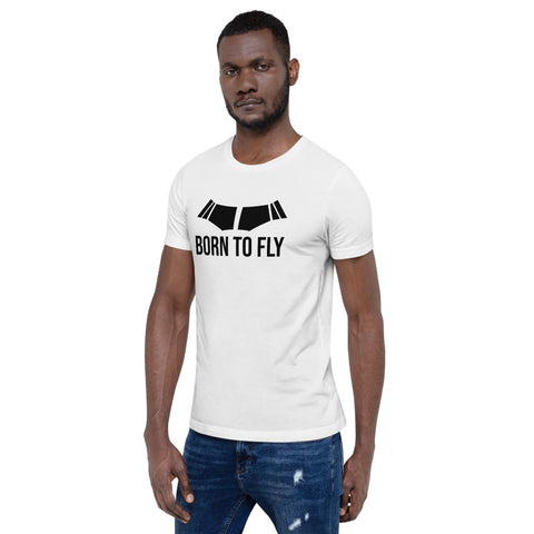 Born to Fly (light color options) - Short-Sleeve Unisex T-Shirt