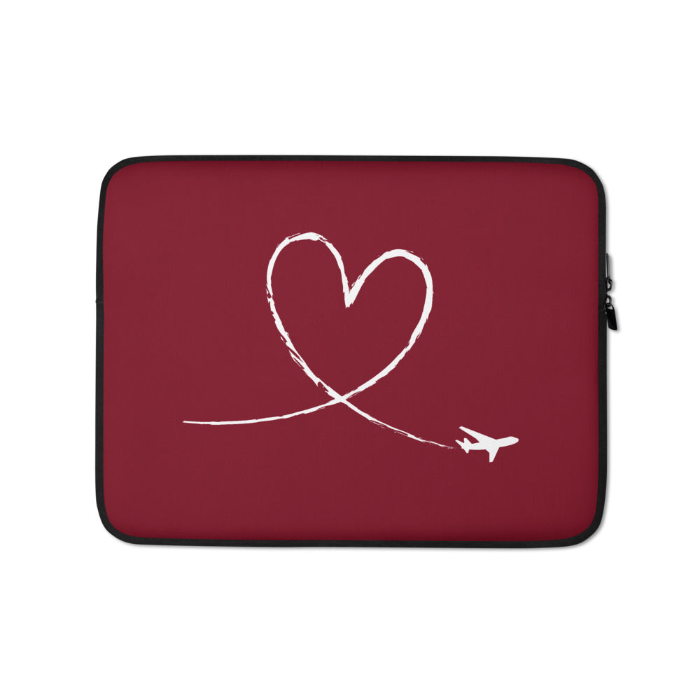 Love To Fly (Red) Laptop Sleeve and Cover
