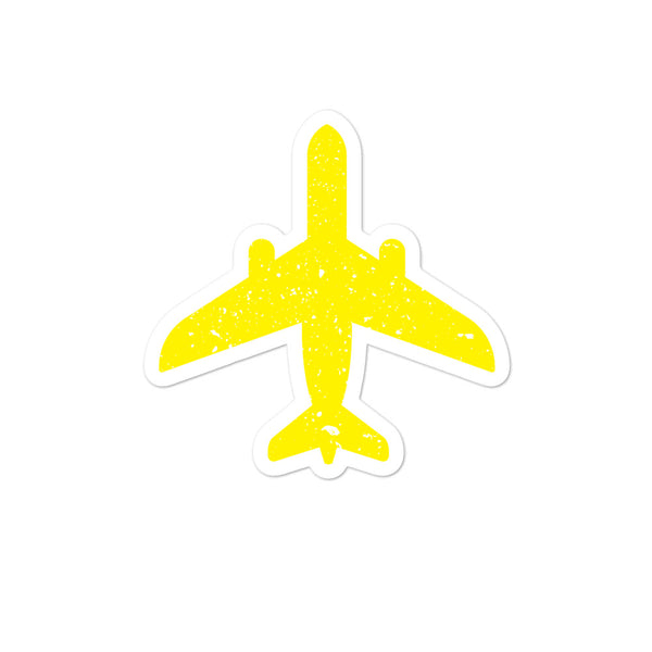 Bubble-free stickers - Yellow Flying Plane