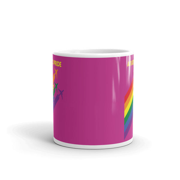 Aviation Pride Tea and Coffee Mug - Double-Sided Pink