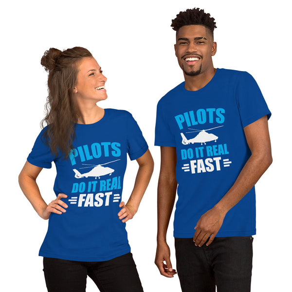 Pilots Do It Real Fast (dark color options) - Short-Sleeve Unisex T-Shirt