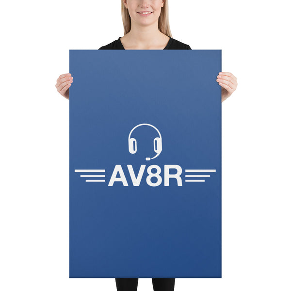 AV8R on Blue Canvas