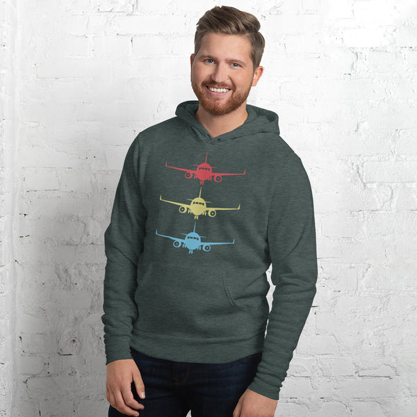 Stacked Aircraft Unisex hoodie
