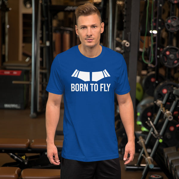 Born to Fly (dark color options) - Short-Sleeve Unisex T-Shirt