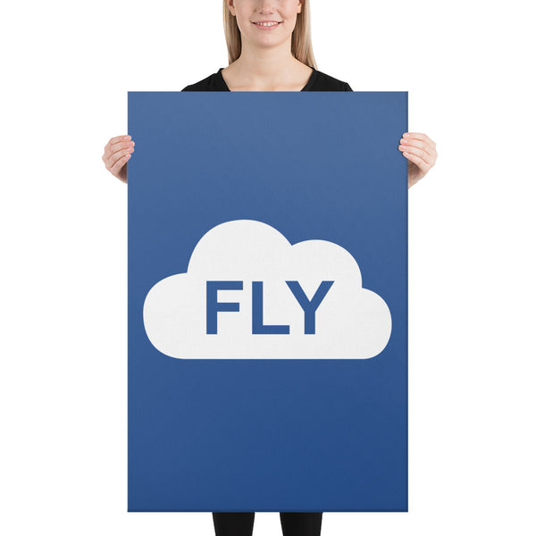 FLY on Blue Canvas