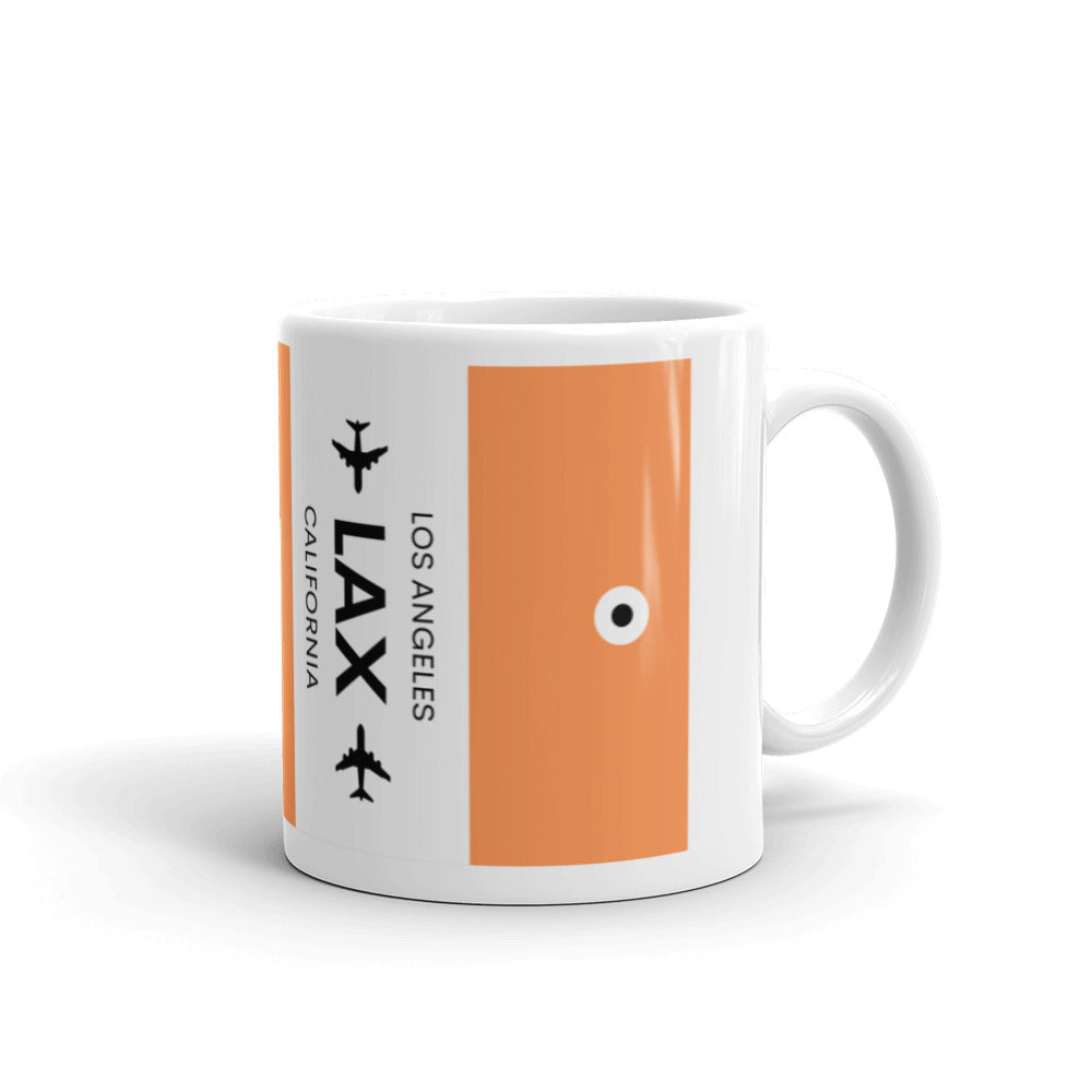 LAX (Los Angeles Airport) Luggage Tag Tea and Coffee Mug