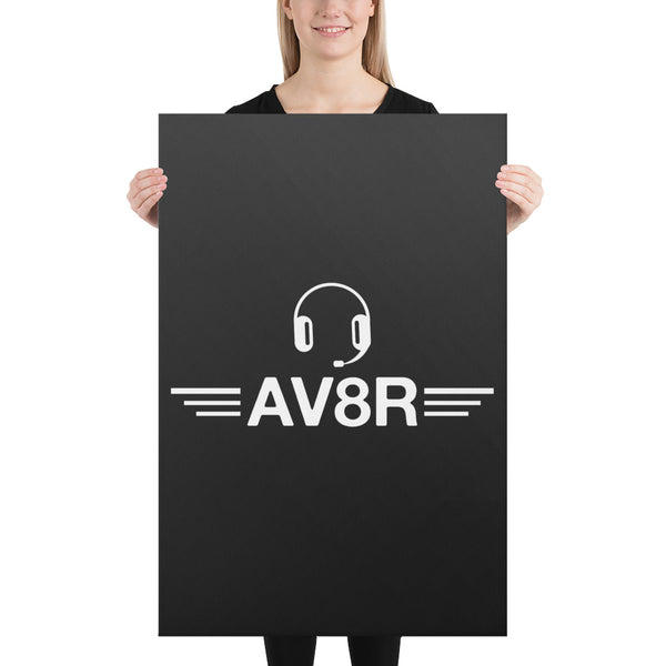 AV8R on Black Canvas