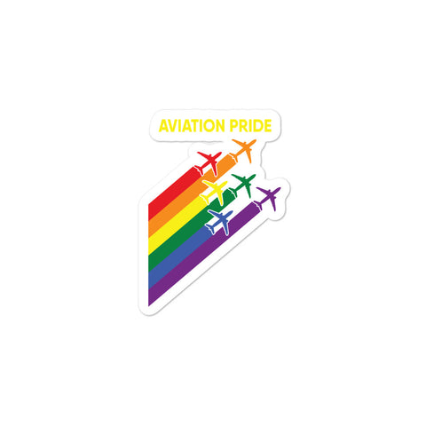 Bubble-free stickers - Aviation Pride