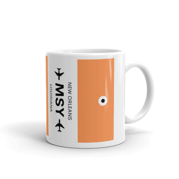MSY (New Orleans Airport) Luggage Tag Tea and Coffee Mug
