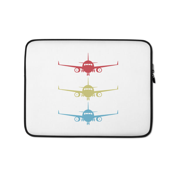 Stacked Aircraft Laptop Sleeve