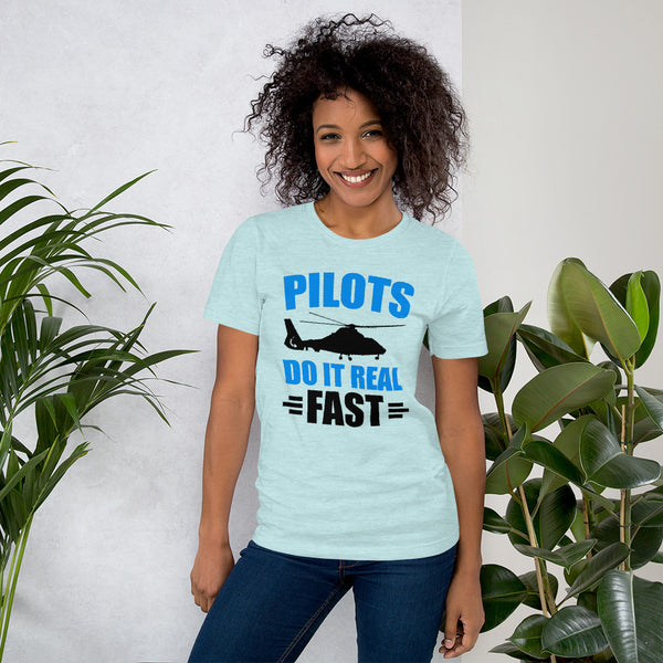 Pilots Do It Real Fast (light color options) - Short-Sleeve Unisex T-Shirt