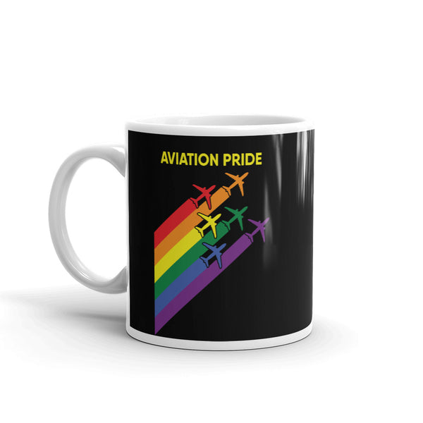 Aviation Pride Tea and Coffee Mug - Double-Sided Black