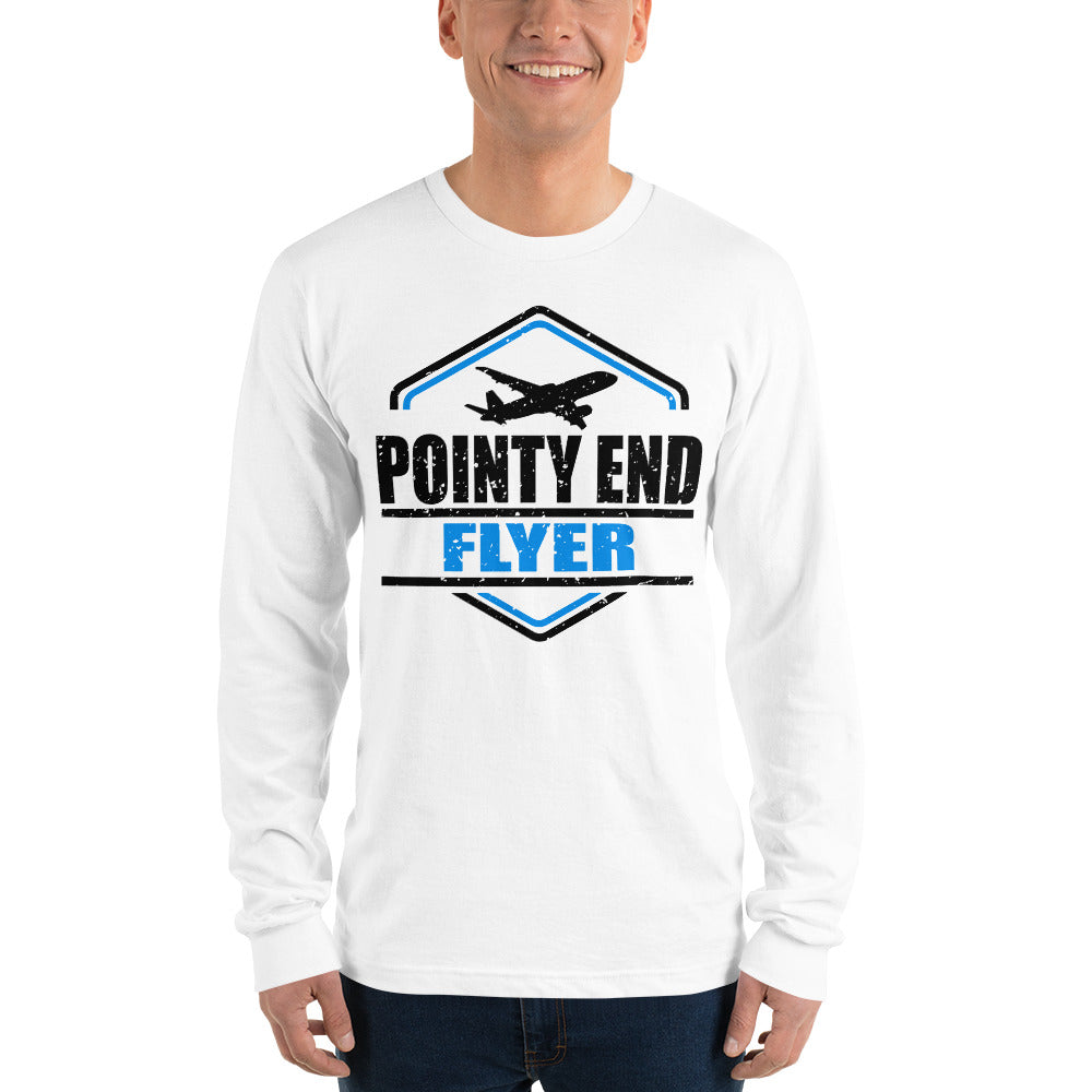 Long sleeve t-shirt - Pointy End Flyer (White)