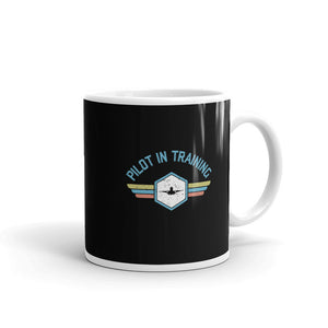 Pilot In Training Tea and Coffee Mug Double-Sided Print (Black)