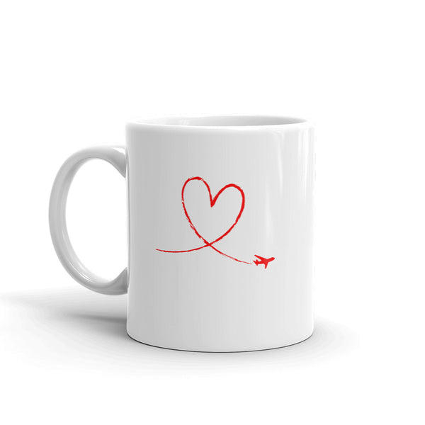 Love To Fly Tea and Coffee Mug - Double-Sided White