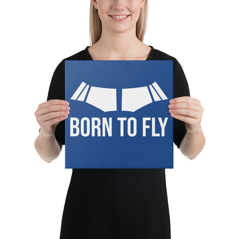 Born To Fly on Blue Canvas