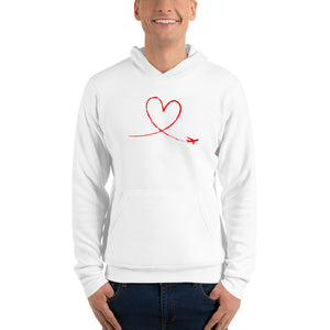 Love To Fly Unisex Hoodie (white)