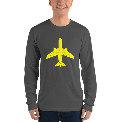 Yellow Aircraft - Long Sleeve T-Shirt