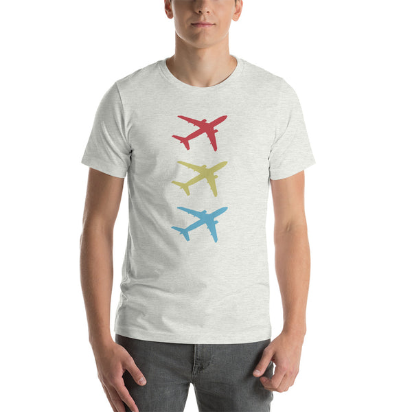 Aircraft Trio (light color options) - Short-Sleeve Unisex T-Shirt
