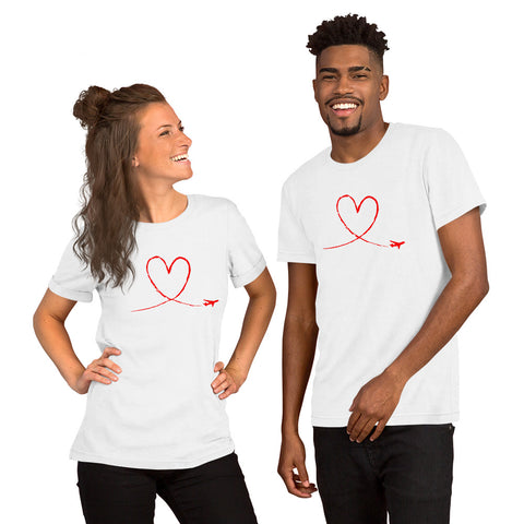 Love to Fly Tee (red) Short-Sleeve Unisex T-Shirt