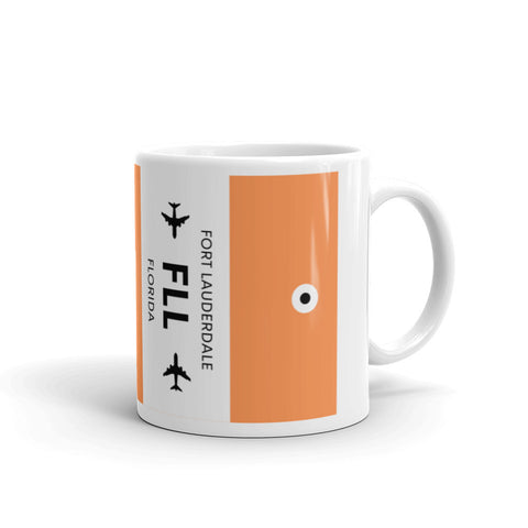 FLL (Fort Lauderdale Airport) Luggage Tag Tea and Coffee Mug