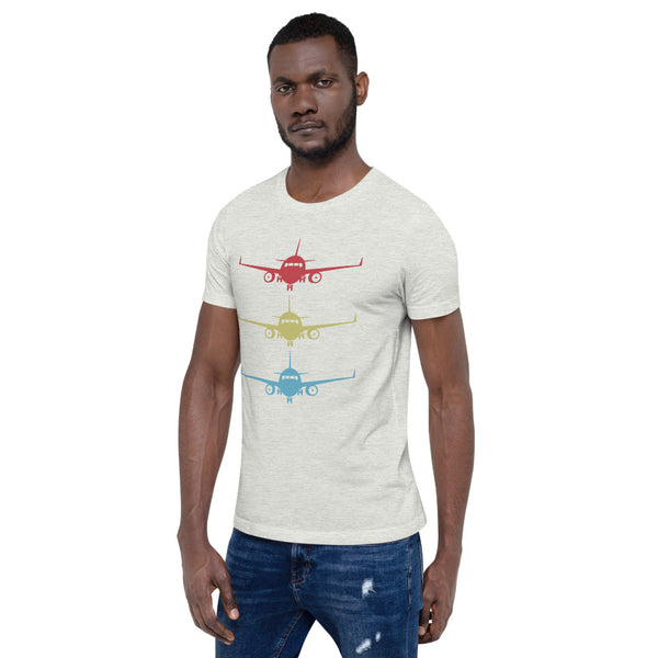 Stacked Aircraft (light color options) - Short-Sleeve Unisex T-Shirt