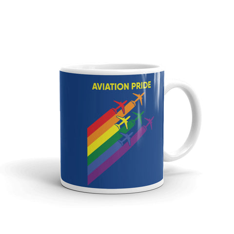 Aviation Pride Tea and Coffee Mug - Double-Sided Blue