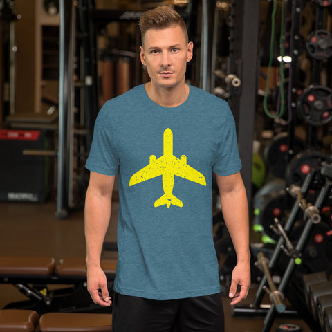 Yellow Aircraft - Short-Sleeve Unisex T-Shirt