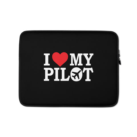 I Love My Pilot Laptop Sleeve