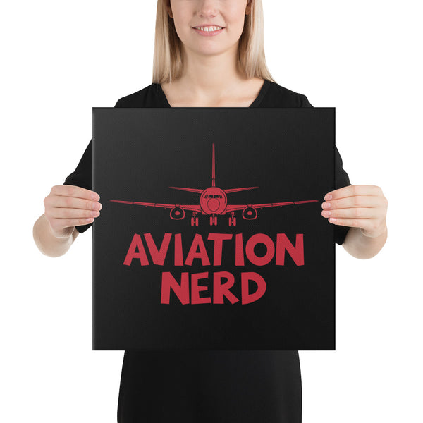 Aviation Nerd on Black Canvas