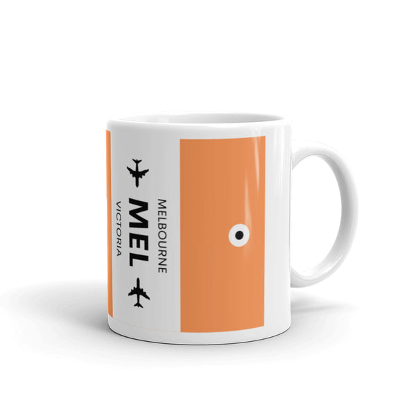 MEL (Melbourne Airport) Luggage Tag Tea and Coffee Mug