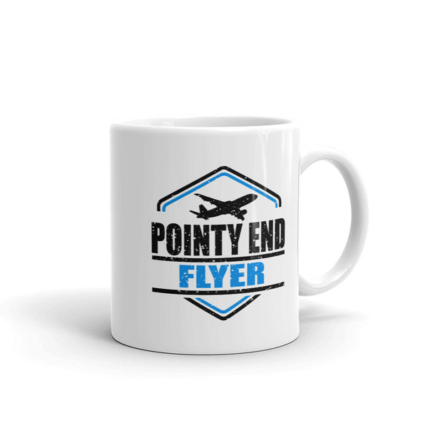 Pointy End Flyer Tea and Coffee Mug - Double-Sided White