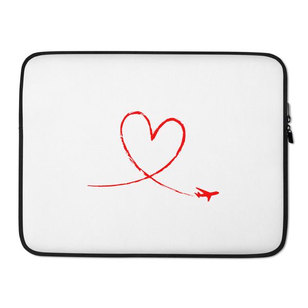 Red Love To Fly Laptop Sleeve