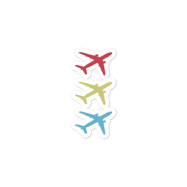 Bubble-free stickers - Flying Stacked Aircraft