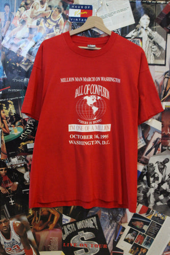 Vintage 1995 Million Man March Red Tee size Large