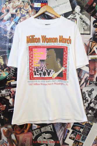 Vintage 1997 Million Woman March Tee size Large