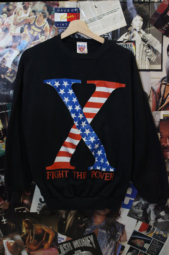 Vintage Malcolm X Public Enemy Fight The Power Spike Lee Sweater size M