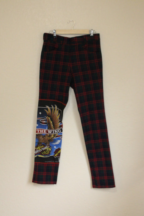 Harley Davidson Plaid Pants size 30-32 by Haus of Vain