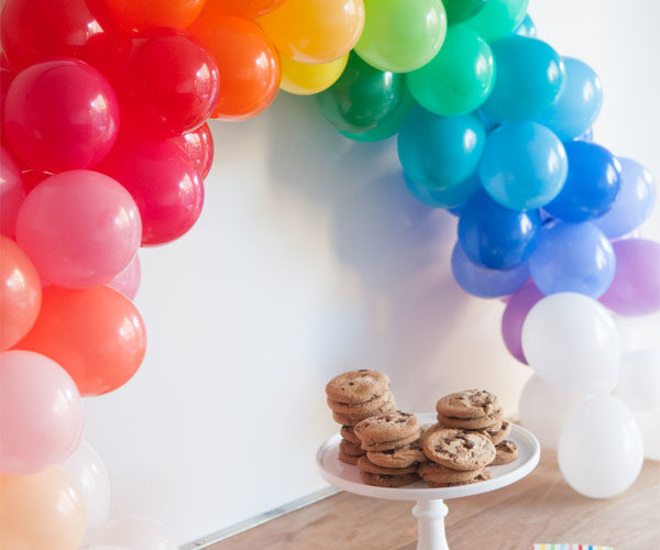 Mini Rainbow DIY Balloon Arch