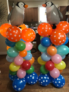"2 Set Balloon Column kit 61"" Tall Sturdy Tripod Balloon Column Base and Pole with Balloon Rings for Birthday, Baby Shower, Graduation Outdoor, and Indoor"