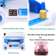 Load image into Gallery viewer, Electric Air Pump with Timer for Perfect Balloon Sizes