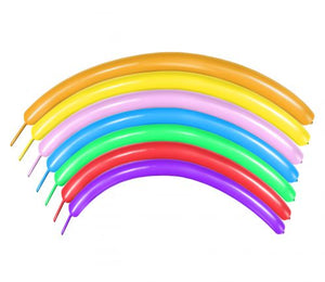 100 pcs Long Magic Balloons Assorted Colors for Animal Model, Weddings, Birthdays Party Decorations