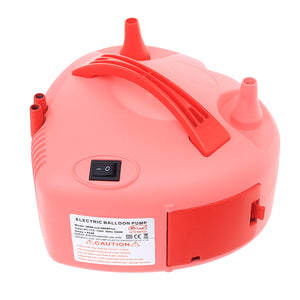Electric Balloon Air Pump Inflator Dual Nozzle Blower Portable Fast Easy Balloon Filler Pink