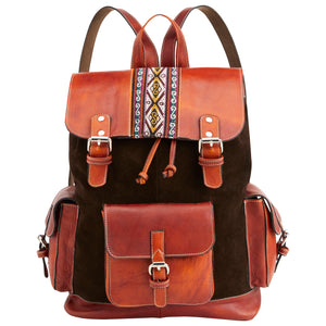 Leather & Suede Andean Backpack