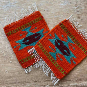 Zapotec Coasters Set of 2, Geo XIX