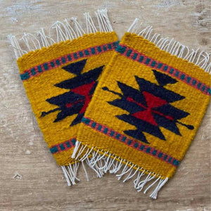 Zapotec Coasters Set of 2, Diamond XXVI