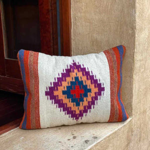 ZapotecIIdPillowCoverNativeStripedMotifSouthwestStylePillowcasePortlandFairTradePicchuBold
